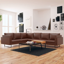 barna műbőr sarokkanapé bútor