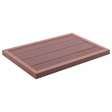 Barna WPC padlóelem szolárzuhanyhoz 101 x 63 x 5,5 cm medence kiegészítő