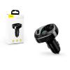 Baseus Baseus Bluetooth FM-transmitter/szivargyújtó töltő - 2xUSB + MP3 + TF/microSD kártyaolvasó - Baseus TM01 Standard Edition - black