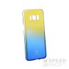 Baseus Glaze Samsung G955 Galaxy S8+ hátlaptok, kék