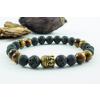 BBH Inspiration Ónix - lávakő - tigrisszem karkötő buddha medállal