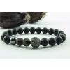 BBH Inspiration Tripla fekete cirkon gömbös matt ónix karkötő