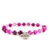 BBH Inspirations Achát pink karkötő lótuszvirág medállal