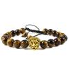 BBH Inspirations Cord tigrisszem ásványkarkötő oroszlán medállal