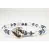 BBH Inspirations Üveggyöngy blue karkötő szív medállal