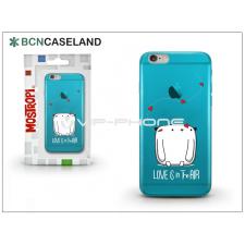 BCN Caseland Apple iPhone 7 Plus szilikon hátlap - BCN Caseland Love - cyan tok és táska