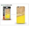 BCN Caseland Apple iPhone 7 Plus szilikon hátlap - BCN Caseland Wooden Lines - yellow