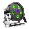 Beamz beamZ BFP110 FlatPAR 3 az 1-ben LED reflektor, 5 x 6 W RGB LED, DMX, IR-távirányító