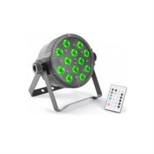Beamz FlatPAR, 12 x 3 W, tri color LED, DMX IR, távirányító mellékelve távkioldó, távirányító