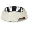 BEEZTEES kutya etetőtál diamond fehér 14x4cm
