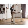 Beliani Állítható magasságú barna/fehér asztal 180x80 cm UPLIFT