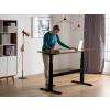 Beliani Állítható magasságú barna-fekete íróasztal 160x70 cm manuális UPLIFT
