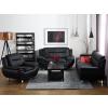 Beliani Elegáns kétszemélyes műbőr kanapé fekete színben LEIRA