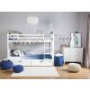 Beliani Emeletes ágy fehér színben 90 x 200 cm REVIN