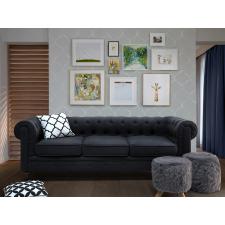 Beliani Kárpitozott kanapé - grafit szürke - vintage dizájn - CHESTERFIELD bútor