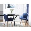 Beliani Kék retró 2 darabos étkezőszék szett BROOKVILLE