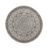 Beliani Különleges Fekete És Krémszínű Mandala Mintás Kerek Szőnyeg ø 120 cm HIZAN
