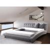 Beliani Luxus franciaágy 180x200 cm - Szövet ágy - Ágyrács - Szürke - LILLE