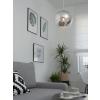 Beliani Modern üveg mennyezeti lámpa ezüst színben ASARO
