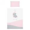Belisima 2-részes ágyneműhuzat Belisima Teddy Bear 100/135 rózsaszín
