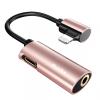 BENKS lightning adapter és jack konektor Apple iPhone - arany