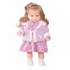 Berbesa Luxus beszélő spanyol baba-kislány Krisztinka 52cm