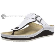 Berkemann !Választható ajándékkal! Berkemann Mila fehér női bőr lábujjközi papucs 35,5-42
