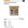 Beta 1658/C4 4 részes mikrométer készlet, fadobozban