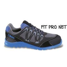 Beta 7340B/43 jól szellőző mesh szövet munkavédelmi cipő nagyfrekvenciás PU betétekkel és védő erősítéssel a hasítottbőr orrnál, 43 méret