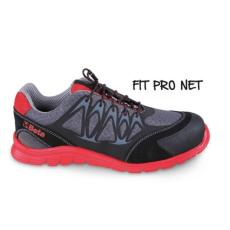 Beta 7340R/38 jól szellőző mesh szövet munkavédelmi cipő nagyfrekvenciás PU betétekkel és hasítottbőr kéreg orr erősítéssel, 38 méret