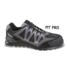 Beta 7341N/47 Mikro hasítottbőr munkavédelmi cipő, mérsékelten vízálló, nagyfrekvenciás PU betétekkel és védő erősítéssel a hasítottbőr orrnál, 47 méret