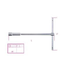 Beta 949 T szárú egyszerű kulcs mély hatlapfejű dugóvéggel 12 dugókulcs