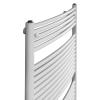 Betatherm BX 55125 (1250*546) íves fürdőszobai radiátor, fehér, BX Curves törölköző szárító radiátor, fürdőszobai csőradiátor, BX Curves