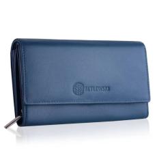 Betlewski női pénztárca bőrből kék