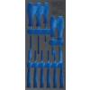 BGS Technic 1/3 szerszámtálca szerszámkocsihoz (408x189x32 mm), üresen: 11 részes csavarhúzó készlethez (nem tartozék) (BGS 4131-1)