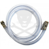 BGS Technic Gumiabroncs nyomásmérő-kerékfúvató-hoz PVC tömlő+szelep 1000 mm (9-3242-1)