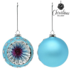 BigBuy Christmas Karácsonyi díszek Christmas Planet 1693 8 cm (2 uds) Kristály Kék
