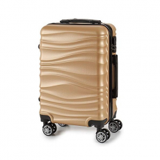 BigBuy Home Kabin bőrönd ABS (22 x 27 x 37,5 cm) (Ezüst színű)