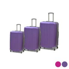 BigBuy Home Kabin bőrönd Set ABS 3 Darabok (Lila)