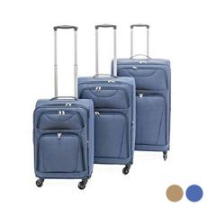 BigBuy Home Kabin bőrönd Set s Szövet 3 Darabok