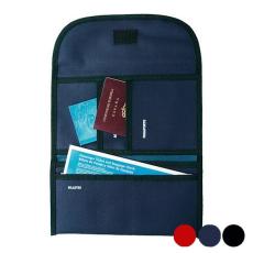 BigBuy Travel Tartó úti okmányokhoz Poliészter 300d 148946 Fekete/Piros