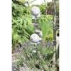 Bighome.hu Ozdoba do záhrady WAV, 160 cm - strieborná, biela, číarna