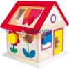 Bino Toys Fa formaillesztő házikó