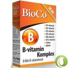 Bioco B-Vitamin Komplex Tabletta 90 db vitamin és táplálékkiegészítő
