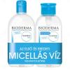 Bioderma Hydrabio H2O arc- és sminklemosó újratölthető, pumpás flakonnal 500ml+500ml DUO PACK
