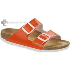 Birkenstock papucs a lábujjak védelméért neon narancs