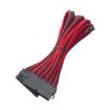 Bitfenix 24 tűs ATX hosszabbító 30cm fekete/piros