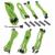 Bitfénix BitFenix Alchemy 2.0 PSU kábelkészlet, BQT széria SP10 - zöld