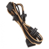 Bitfénix Bitfenix Molex 4x SATA adapter 20 cm - arany / fekete