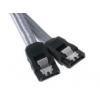 Bitfénix BitFenix SATA 3 kábel 30cm - ezüst / fekete